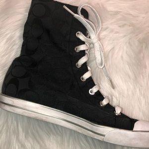 Coach Shoes - Coach high top sneakers black